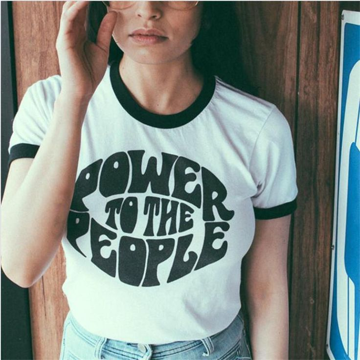 Power To The People Ringer Shirt