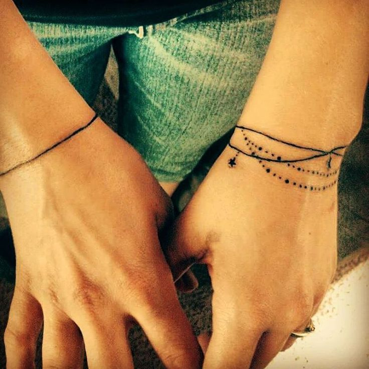 Frau tattoo armband handgelenk Tattoo am