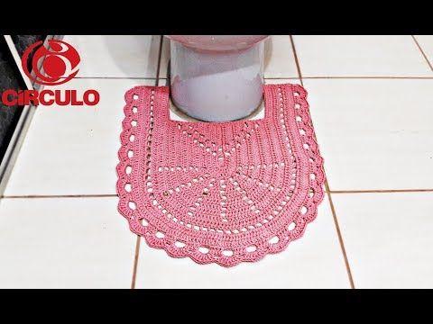 Jogo de Banheiro de Crochê Fácil - Tampa do Vaso - YouTube