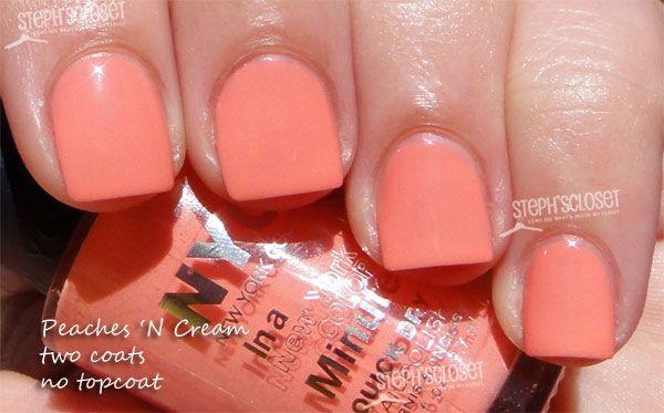 NYC New York Color Peaches N Creme Nail Polish