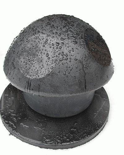 Urn paddestoel L, met onderplaat, hoogte circa 30 cm