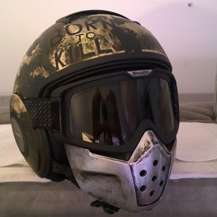Shark Raw Helmet Full Metal Jacket, by JPM. Born to Kill Helmet. Motorcycle…
