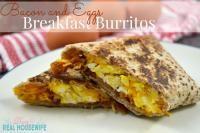 Bacon and Eggs Breakfast Burritos on MyRecipeMagic.com The perfect breakfast.