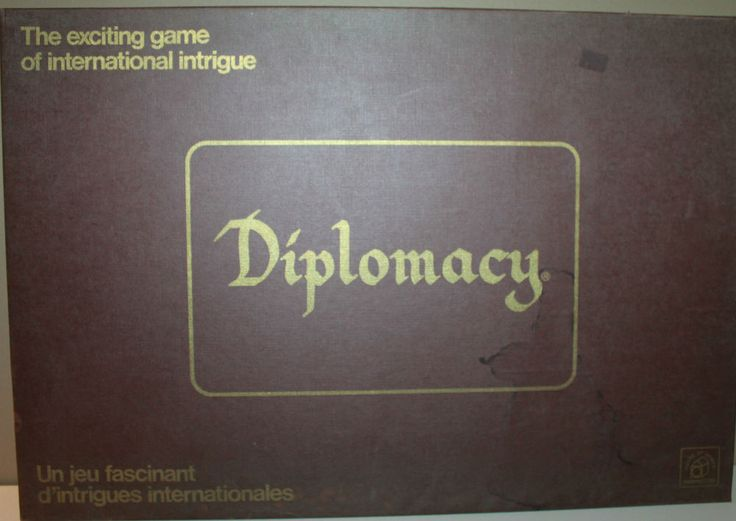 Diplomacy Game International Intrigue 1974 Board Game Complete Wooden Pieces