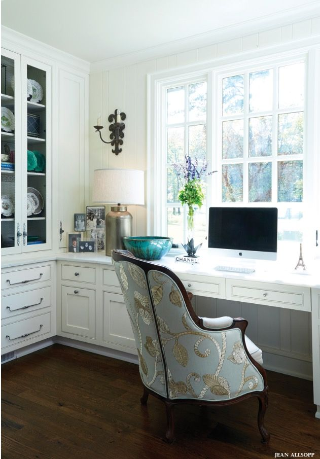Home Office Desk Cabinet Ideas. Traditional Home Office With Built In Desk  Cabinet. Home Office Cabinetry. Corner Used Well