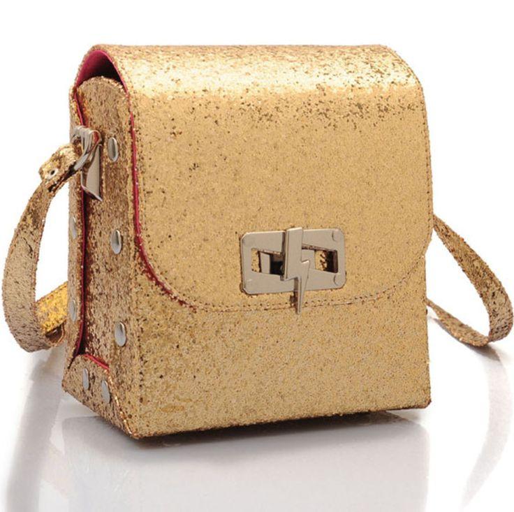 Gold Glitter Satchel