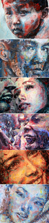 Les visages d'Henri Lamy    Henri Lamy est notre coup de coeur du moment avec ses peintures figuratives, il travaille plus particulièrement sur les visages où la pureté des modèles contraste avec la puissance de sa technique.    Formé à la peinture à l'huile, Henri Lamy a récemment été séduit par l'immédiateté et la spontanéité de l'acrylique.