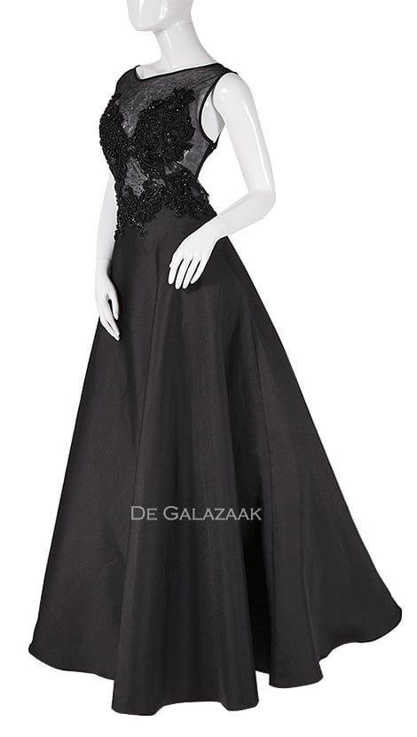 97f5fef641edcd Galajurk of avondjurk in zwart 3966 - City Goddess galajurken en  cocktailjurken