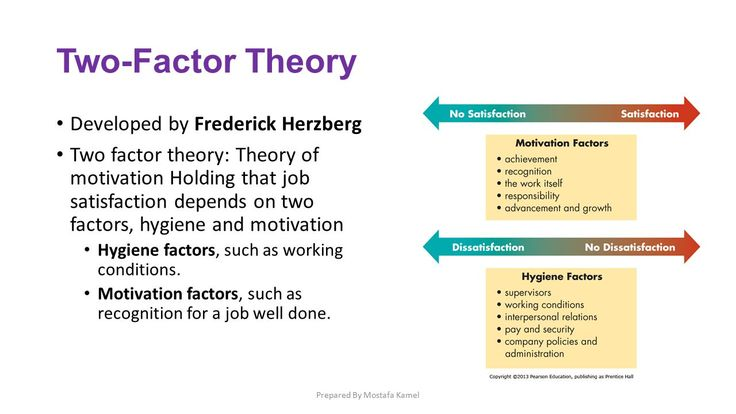 herzbergs two factor theory Herzberg had close links with maslow and believed in a two-factor theory of motivation he argued that there were certain factors that a business could .