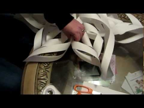How to make a large 3D paper snowflake step by step - YouTube