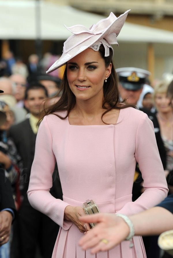 Kate Middleton- May 29th.  Kate wore her pink Emilia Wickstead again.  I love that she repeats outfits!!