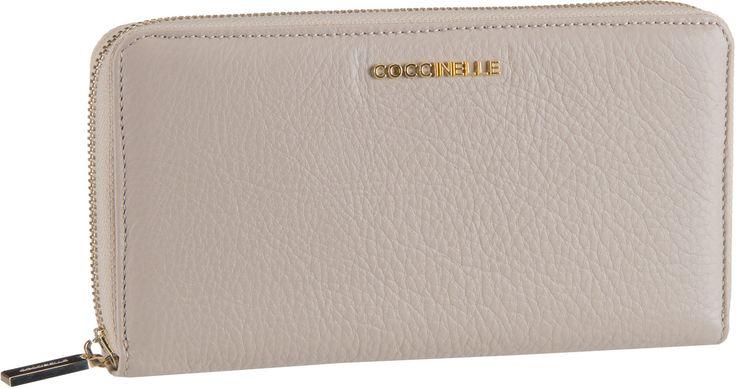Geldboersen für Frauen - Coccinelle Metallic Soft 1104 Seashell Kellnerbörse
