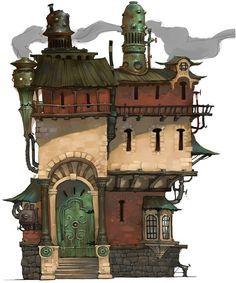 """""""Au Genie Mécanique"""" - Les inventions de Grimboldin """"Grim"""" Feragnon 1c99b54b23b10b49c34ef68aa818e30a--steampunk-house-victorian-steampunk"""