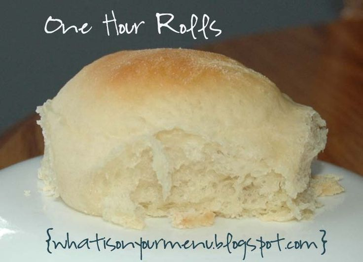 What is on your menu this week?: One Hour Rolls