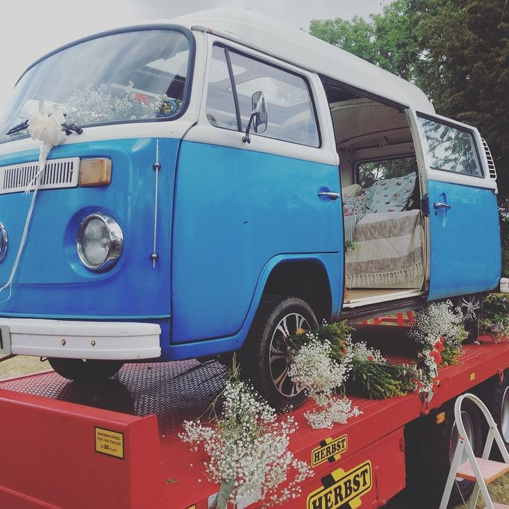 VW camper van is wedding ready