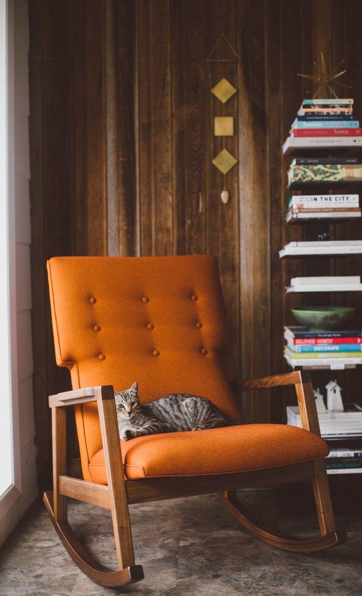 Risom Rocker. Orange ChairsLiving Room ChairsSapien BookcaseRocking ChairsDesign  Within ReachChillingModern FurnitureScandinavian ...