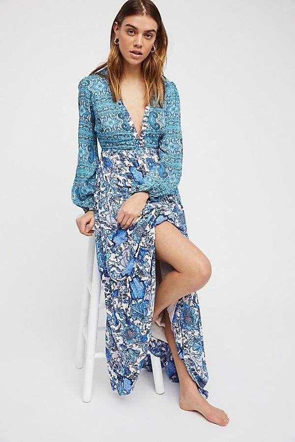 13a621e365a89 Dove Long Sleeve Maxi Dress | Products | Dresses, Free people dress ...