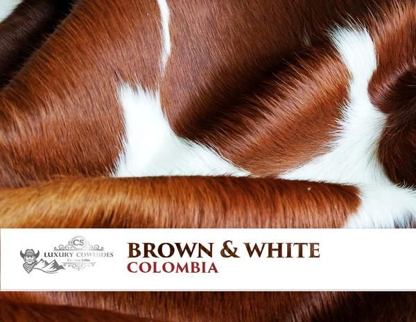 "Cowhide Rug Bring out the Cowboy in you by adding a Homey Western feel to your living room. These rugs are great in any rustic, western or cabin inspired setting. Its premium texture offers ""Sink-In"" underfoot softness while bringing a beautiful difference in your home. Brown and White Cowhide Rug - Origin: Colombia"