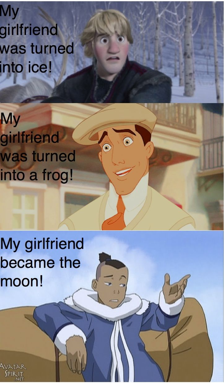 The others got their girlfriends back but Sokka didn't :( It's so sad how throughout the rest of the show he keeps making reference to her and can't kiss Suki in front of the moon and he talks about her when he's stoned and aaaaaauuuuuggghghghghghghghg