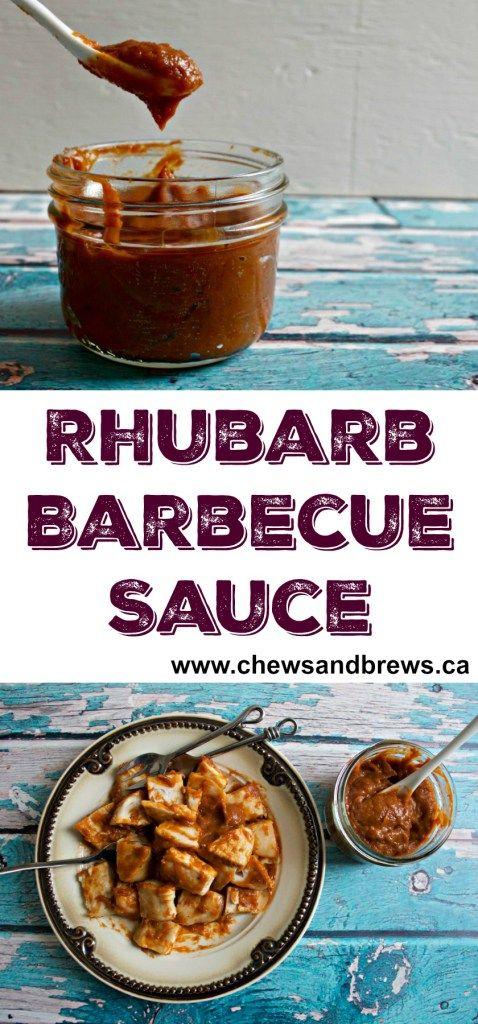 Rhubarb Barbecue Sauce ~ www.chewsandbrews.ca