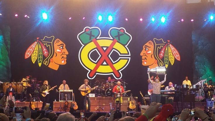 Patrick Kane stops by the Jimmy Buffett concert  with The Stanley Cup -6/29/13
