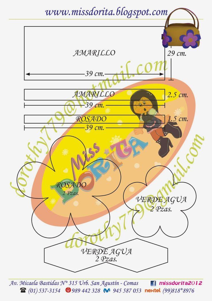 Miss Dorita: Moldes Carterita Necesser