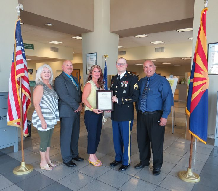 "Vice Mayor Jeni Coke and Councilmembers Donna McCoy, David Lane, and Gordon Groat presented a proclamation to U.S. Army Staff Sergeant Joseph Hudson in honor of the upcoming U.S. Army's 242nd Birthday, June 14, 2017. On June 14, 1775, the Second Continental Congress, representing the citizens of 13 American colonies, authorized the establishment of the Continental Army. The motto of ""Duty, Honor, Country"" is the creed by which the American soldier lives and serves. Happy birthday U.S. Army!"