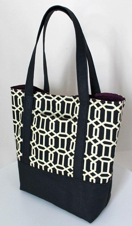 Elegant Bow Tote – Free  Bag Sewing Pattern
