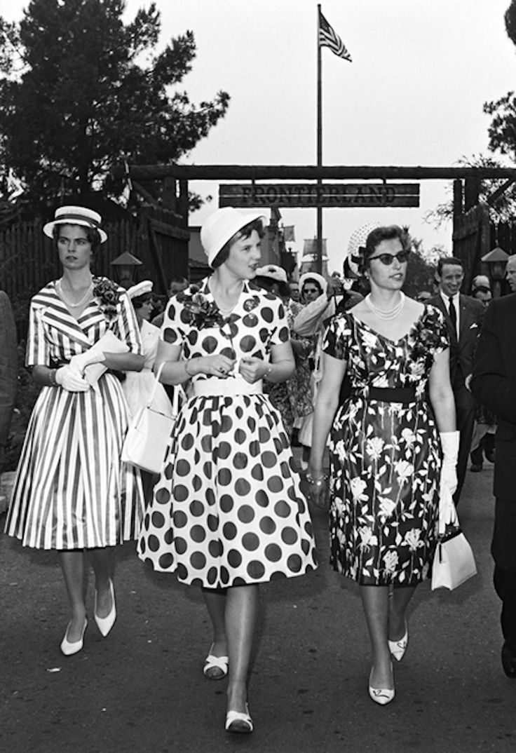 Yes, this IS how women dressed to go to Disneyland in the late 50's.