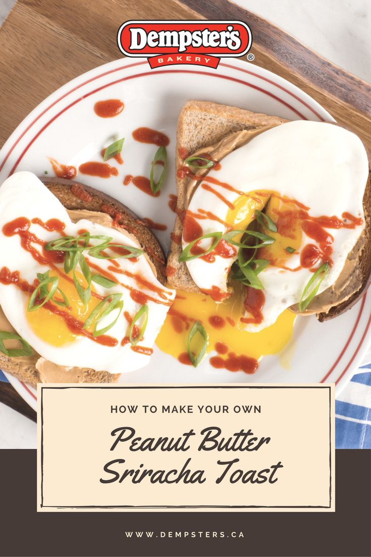 Dress up your toast and peanut butter toast with an egg and a spicy kick!