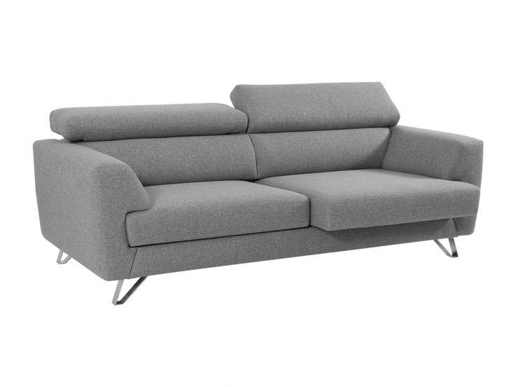 TROY 3-sits Soffa Ljusgrå  - Distinkt tresitsig soffa för dig som gillar att ta ut svängarna när det kommer till design och inredning.