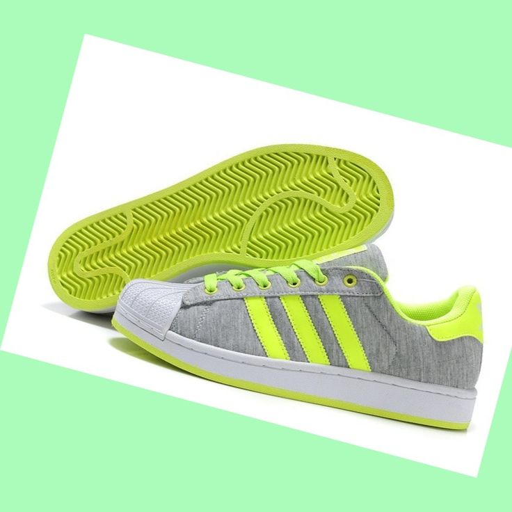 The newest styles Adidas Men's Shoes Superstar 2 Grey Fluorescent-Green
