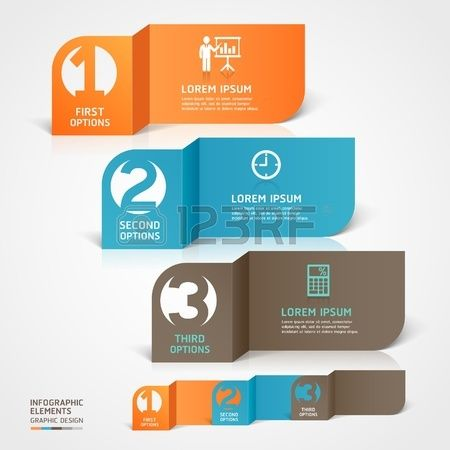 Modern business paper cut infographics element   illustration  can be used for workflow layout, diagram, business step options, banner, web design, number template