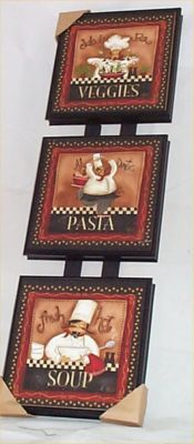 Don't have these wall plaques, but we've got pasta dishes that are identical design...very cute!