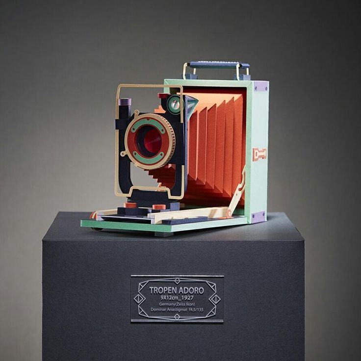 Vintage Film Cameras Meticulously Built From Colored Paper by Lee Ji-Hee   Colossal