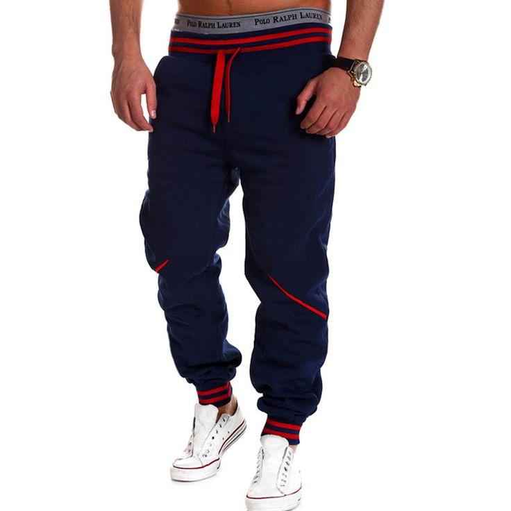 Homens marca calças hip hop harem corredores calças 2017 calças masculinas calças sweatpants corredores dos homens sólida