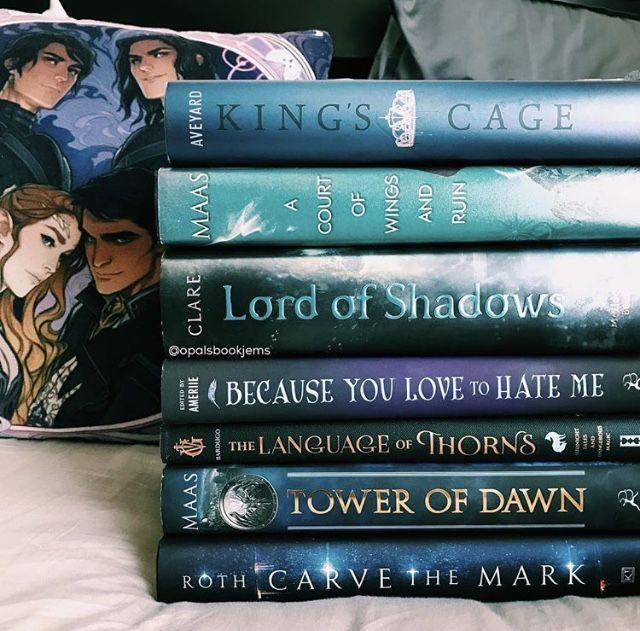 Hottest books of 2017!!! #kingscage #acowar #lordofshadows #becauseyoulovetohateme #thelaguageofthorns #towerofdawn #carvethemark