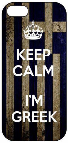 Keep Calm I'm Greek, Greece Flag, iPhone 5 Premium Hard Plastic Case, Cover, Aluminium Layer, Quote, Quotes, Motivational, Inspirational, Theme Shell Go Banners http://www.amazon.com/dp/B00EV2U65M/ref=cm_sw_r_pi_dp_t0WZtb16GY0Z0TRK