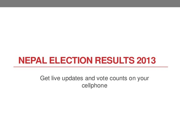 Nepal election result 2013