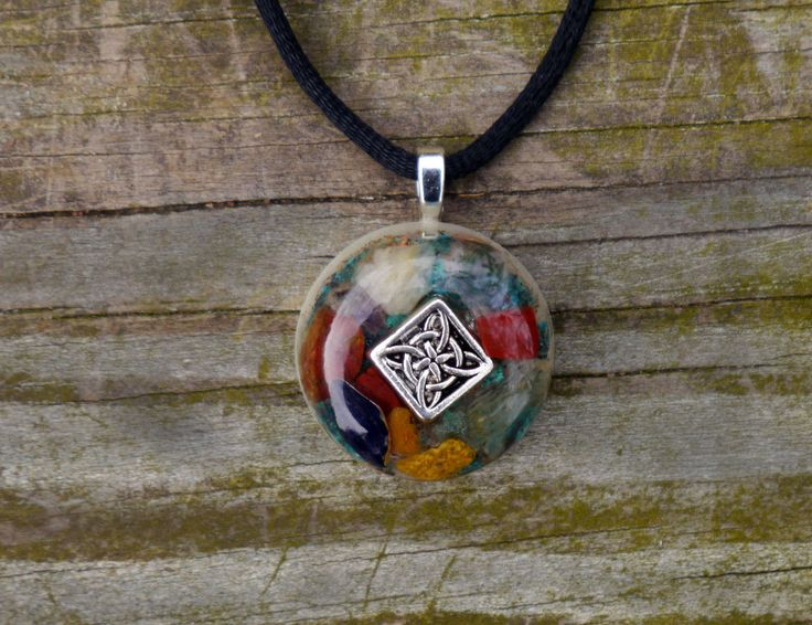 Orgone Energy Pendant - Amethyst, Adventurine, Yellow and Red Jasper, Selenite, Shungite, Copper, Silver by 432oneness on Etsy