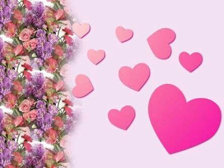 Flores y corazones guías grandes y pequeños ..