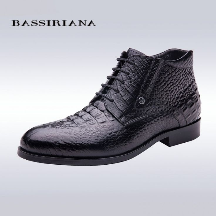 BASSIRIANA high quality men shoes for winter Genuine Full Grain Leather 39-40 men's boots Free shippingBoots