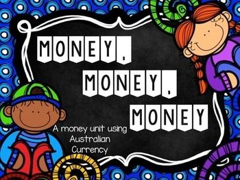This unit focus on Australian currency. Activities include making change, grouping coins to make a total, coin rubbing and 2 sets of matching cards.