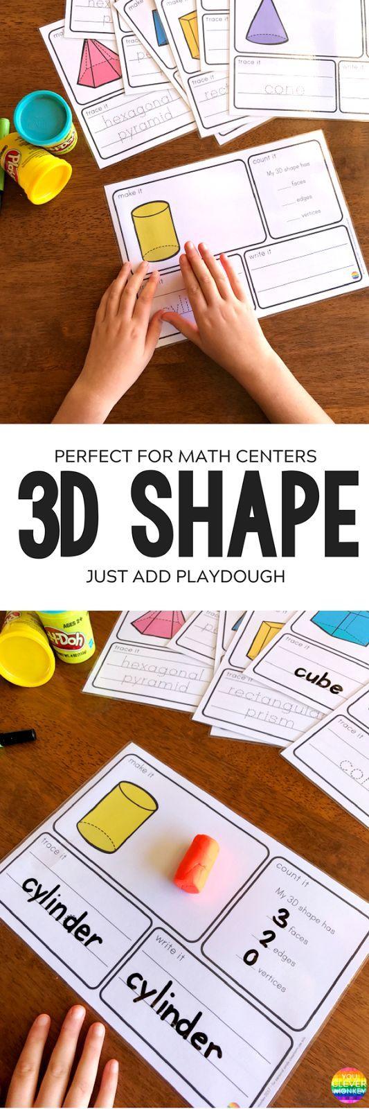 3D Shape Printable Playdough Mats   you clever monkey