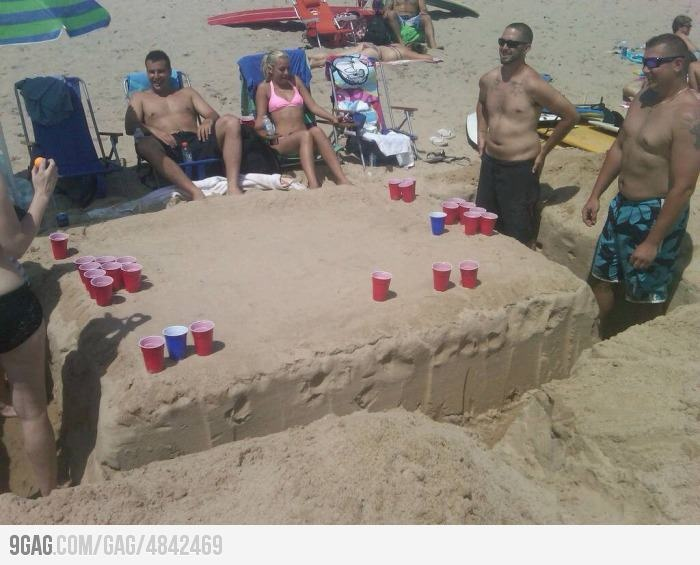 How to meet almost everyone on the beach...awesome: At The Beaches, Ideas, Beaches Beer Pong, Sands Tables, Funny Pictures, Beerpong, Beaches Trips, On The Beach, Beer Pong Tables