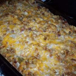 Chicken, Stuffing and Green Bean Casserole Recipe on Yummly