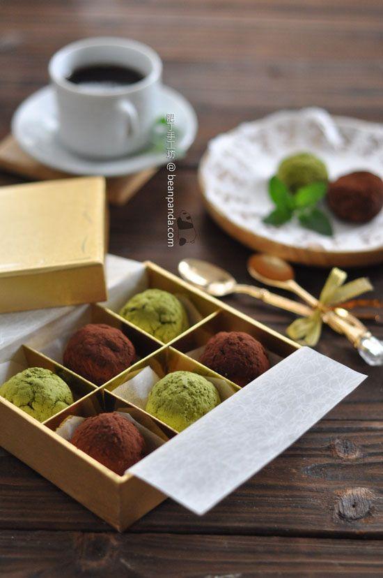 Tofu chocolate truffle