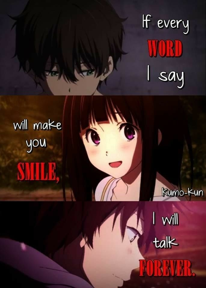 Romantic Anime Quotes : romantic, anime, quotes, Anime, Quotes