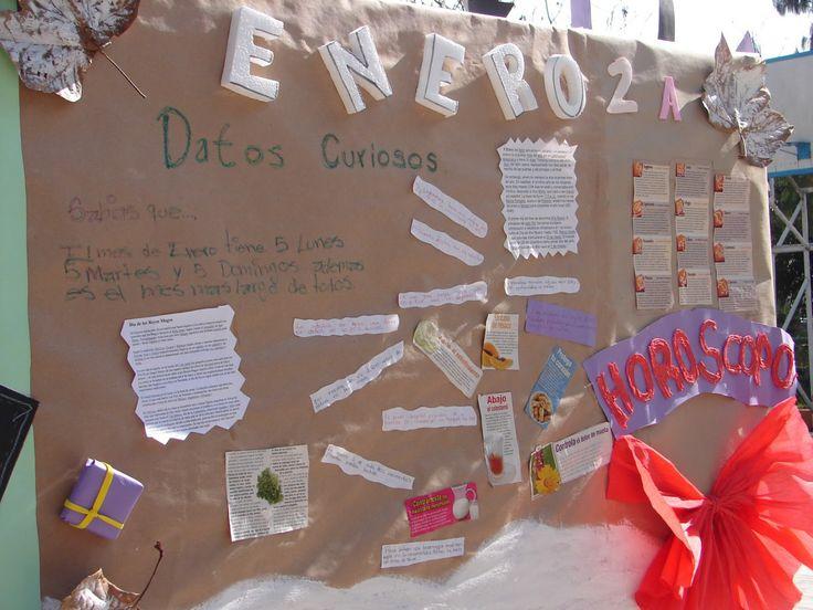 M s de 20 ideas incre bles sobre periodico mural enero en for Amenidades para periodico mural
