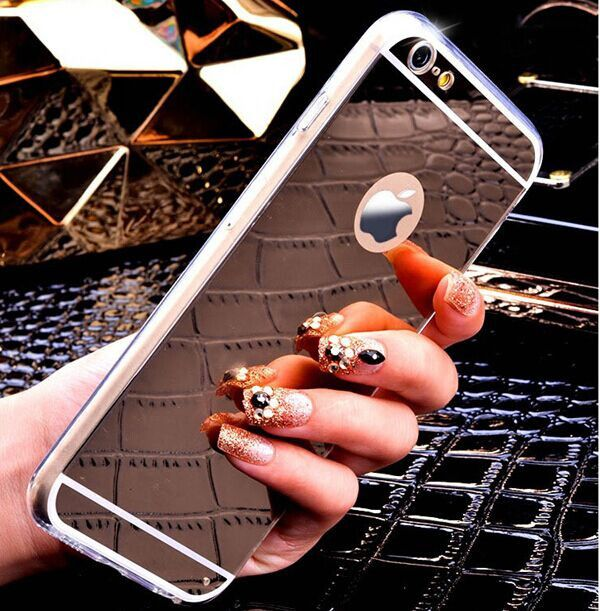 newest collection c3399 09b24 Lifone Rose gold Luxury Mirror Flash Fashion Case For iPhone 7 6 6S ...